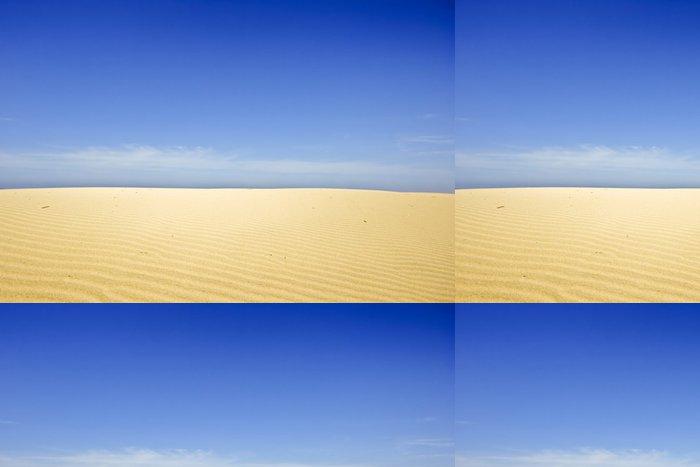 Vinylová Tapeta Sanddunes a modrá obloha v Portugalsku - Pouště