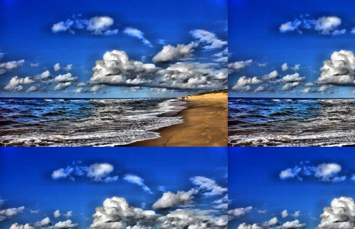 Tapeta Pixerstick Sandstrand wolkenhimmel - Nebe