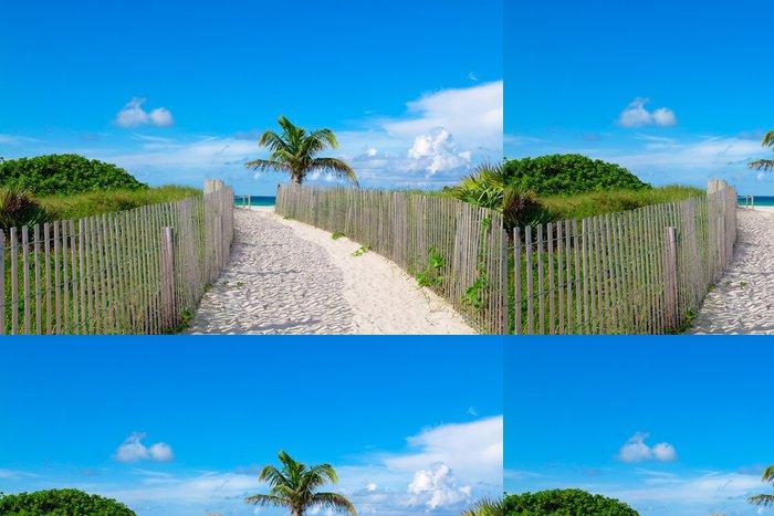Tapeta Pixerstick Sandy cesta do ráje - Roční období