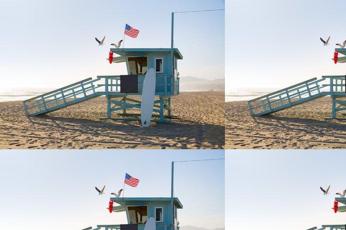 Tapeta Pixerstick Santa Monica beach plavčík věž v Kalifornii - Americká města