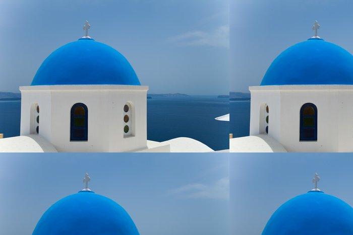 Tapeta Pixerstick Santorini krásný sopečný ostrov v Řecku krajinu s blu - Prázdniny