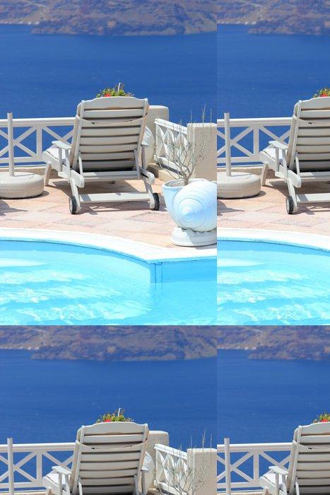 Vinylová Tapeta Santorini obec terasa u moře - Evropa