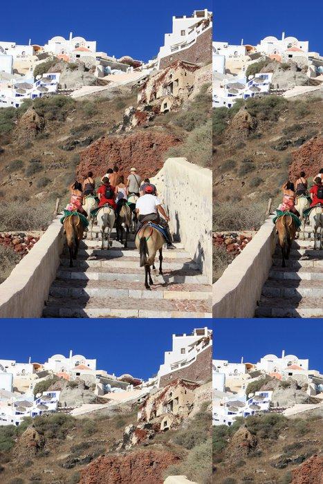 Tapeta Pixerstick Santorini - Oia (Path oslů Amoudi port) - Evropa
