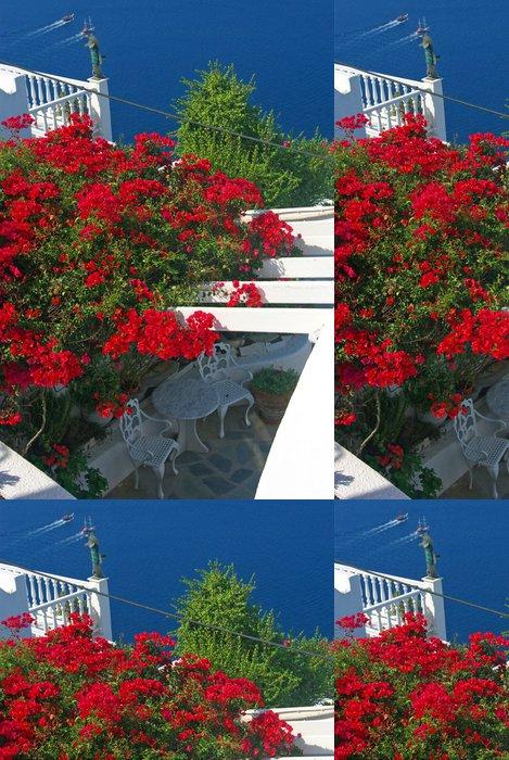 Tapeta Pixerstick Santorini pohled - Evropa