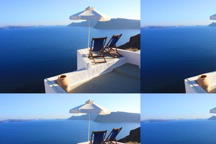 Tapeta Pixerstick Santorini - Terasa - Témata