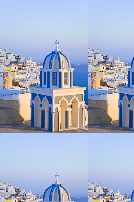 Vinylová Tapeta Santorini západ slunce - Řecko - Prázdniny