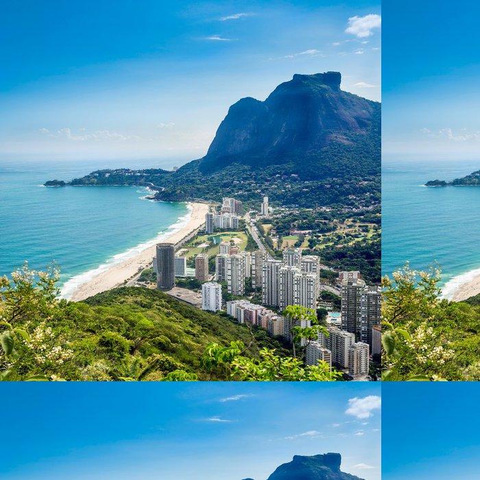 Tapeta Pixerstick Sao Conrado s Pedra da Gavea Hill, Rio de Janeiro - Americká města