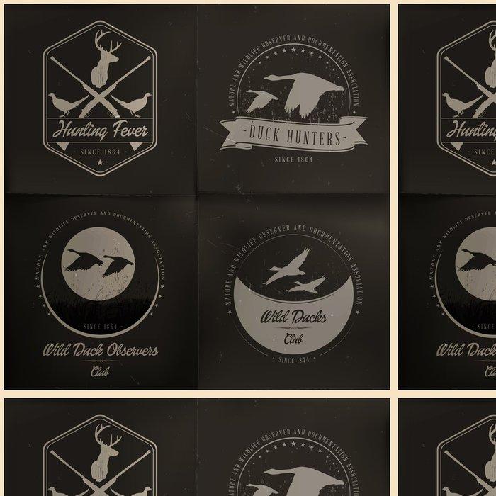 Vinylová Tapeta Sběr odznak divoké zvíře - Ptáci