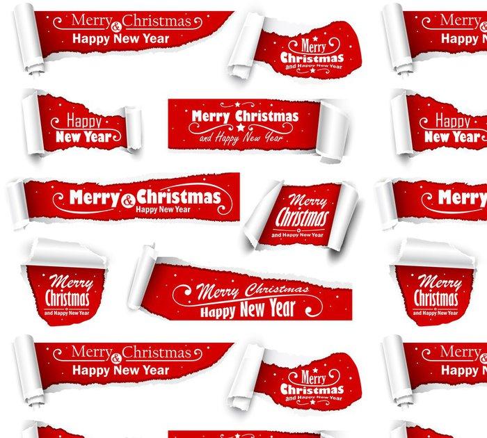 Vinylová Tapeta Sbírka červeném papíru s vánočním textem - Mezinárodní svátky