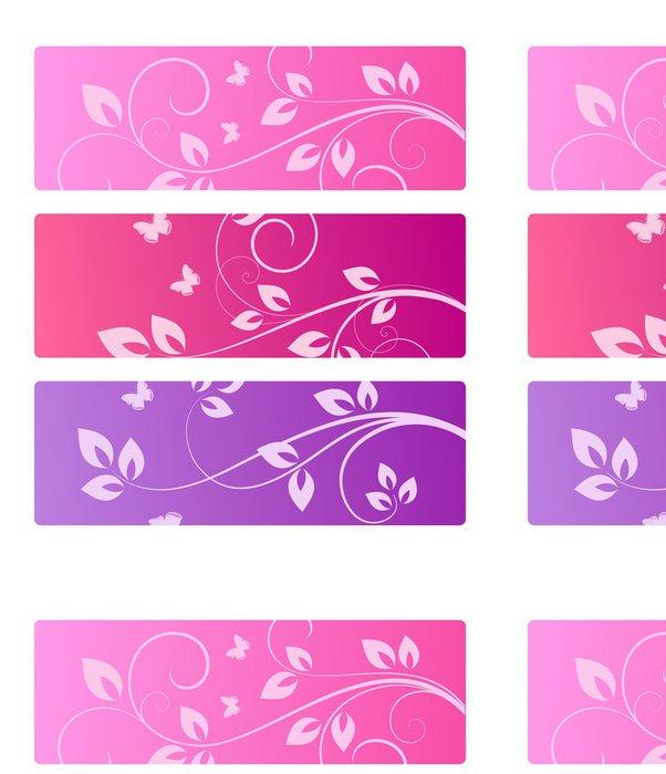 Vinylová Tapeta Sbírka květinové pozadí - Pozadí