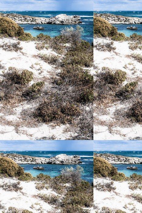Tapeta Pixerstick Scénický výhled na jednu z pláží ostrova Rottnest - Oceánie