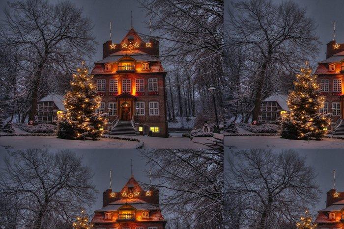Tapeta Pixerstick Schloss Ritzebüttel v Winterlandschaft - Památky
