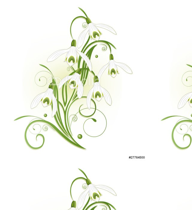 Tapeta Pixerstick Schneeglöckchen, sněženka, flóry, Frühling, Blume - Květiny