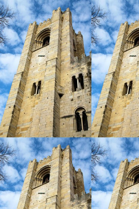 Tapeta Pixerstick Se Catedral Lisabon - Evropská města