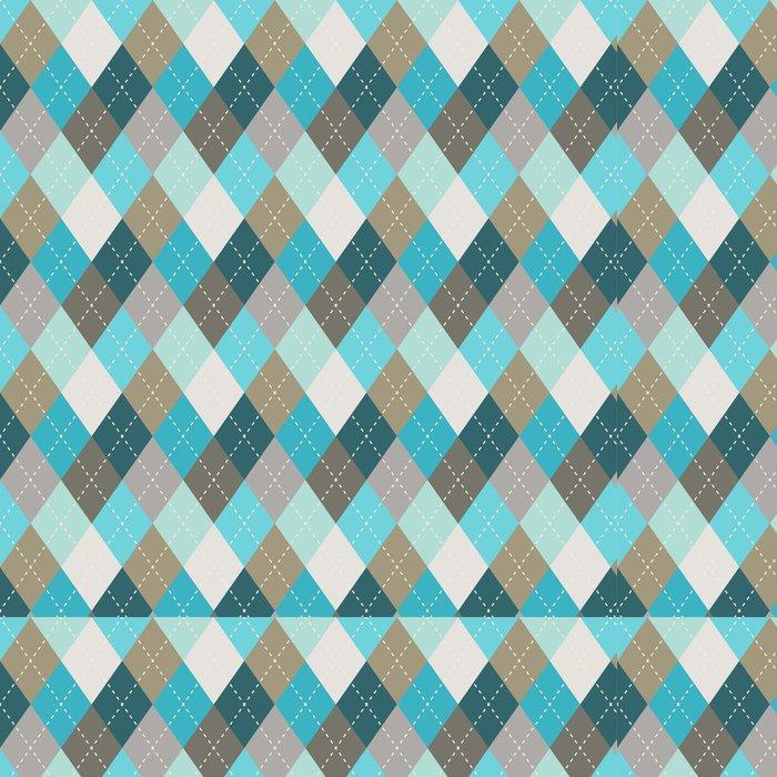 Tapeta Pixerstick Seamless argyle vzor. Diamond tvary pozadí. - Pozadí