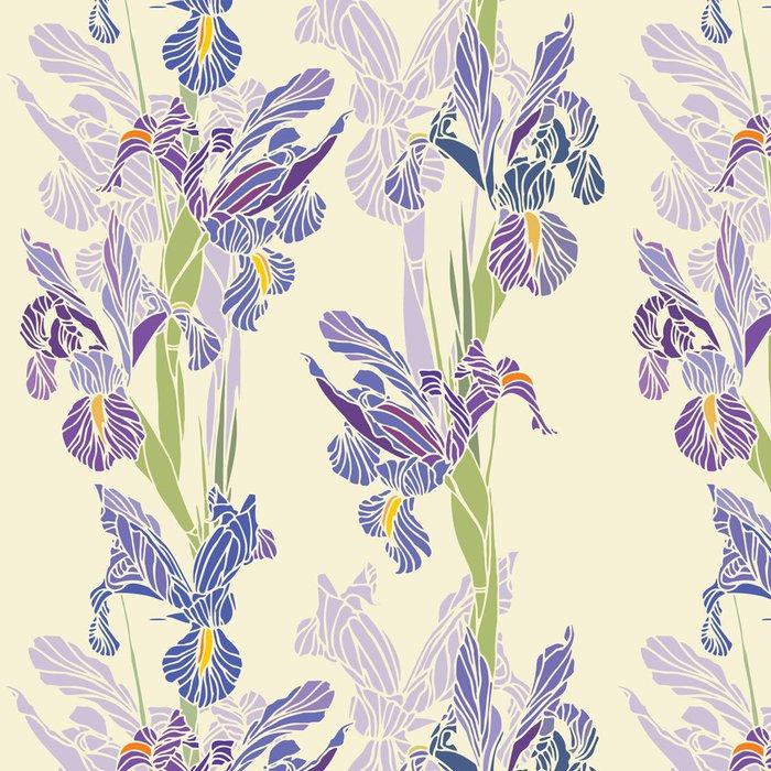 Tapeta Pixerstick Seamless floral pattern - Květiny