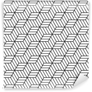 Vinylová Tapeta Seamless op art pattern. 3D iluze.