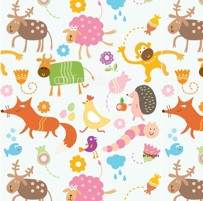 Tapeta Pixerstick Seamless pattern pro děti - Ostatní Ostatní