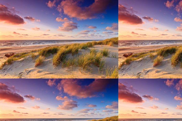 Vinylová Tapeta Seaside s písečnými dunami při západu slunce - Témata