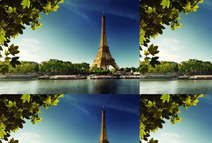 Tapeta Pixerstick Seine v Paříži Eiffelova věž - Evropská města