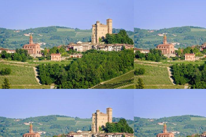 Tapeta Pixerstick Serralunga d'Alba, Castle - Evropa
