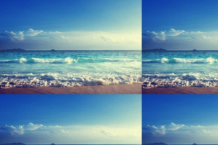 Vinylová Tapeta Seychely pláž v době západu slunce - iStaging
