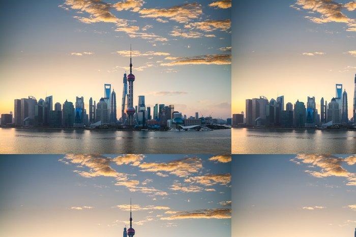 Tapeta Pixerstick Shanghai panorama v krásné ráno - Město
