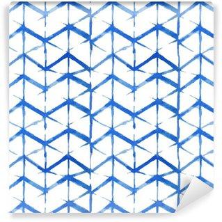 Vinylová Tapeta Shibori indigo bezešvé vzor