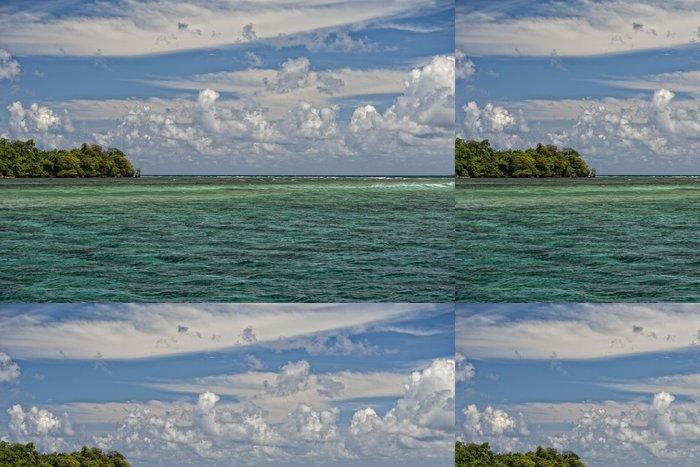Tapeta Pixerstick Siladen Turquoise tropický ráj na ostrově - Voda