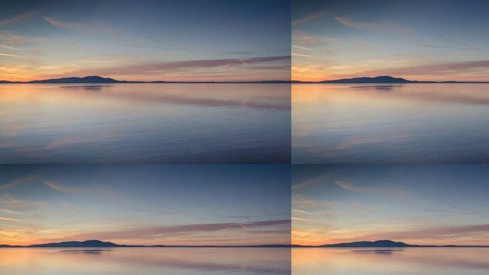 Vinylová Tapeta Silloth západ slunce dívat se přes Solway Firth - Voda