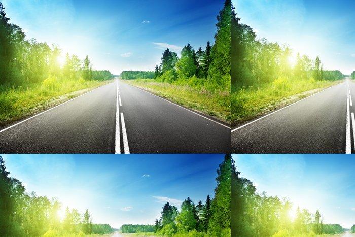 Tapeta Pixerstick Silnice v hlubokém lese - Témata