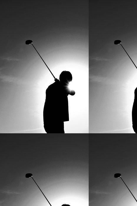 Vinylová Tapeta Silueta muže úder golfovou holí - Témata