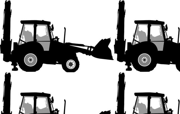 Vinylová Tapeta Silueta traktoru silničního provozu - Nálepka na stěny