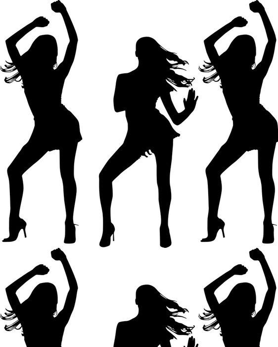 Tapeta Pixerstick Siluety tančících žen - Žena