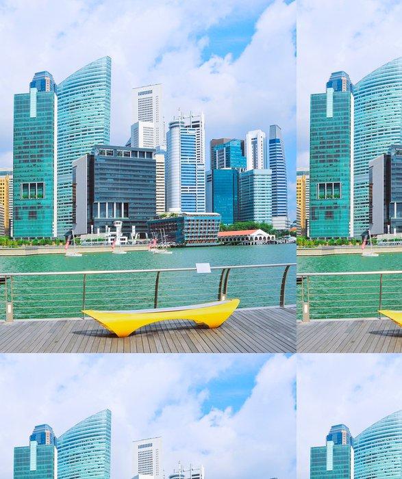 Tapeta Pixerstick Singapur nábřeží - Asijská města