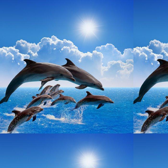 Tapeta Pixerstick Skákací Delfíni - Témata