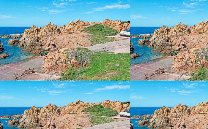 Vinylová Tapeta Skalnaté pobřeží Costa Paradiso - Evropa