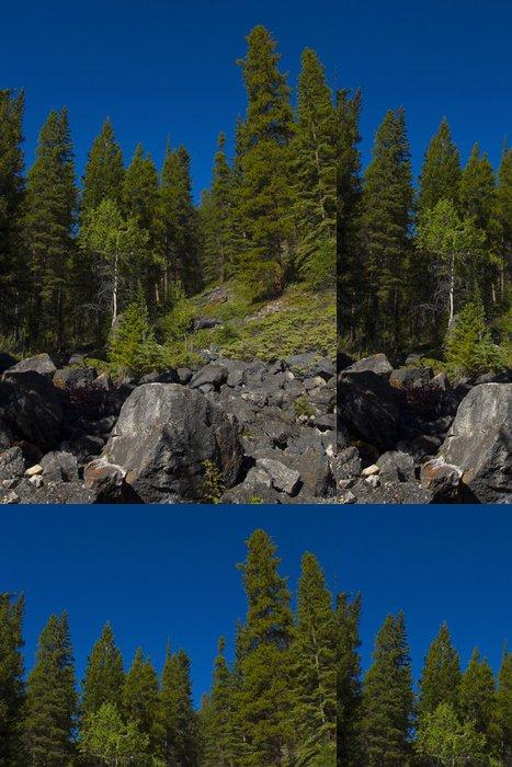 Tapeta Pixerstick Skalní Slide v národním parku Banff - Hory