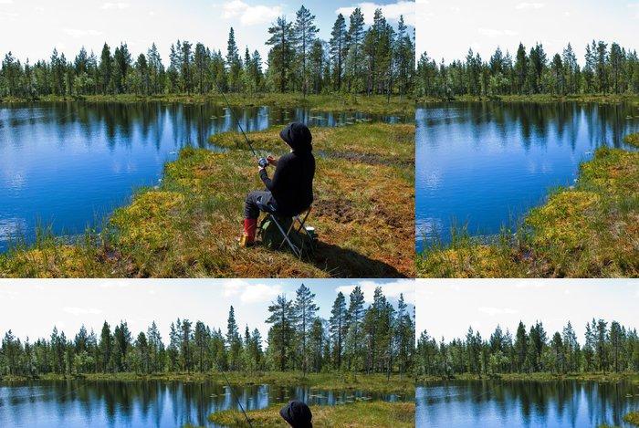 Tapeta Pixerstick Skandinávský rybolov - Outdoorové sporty