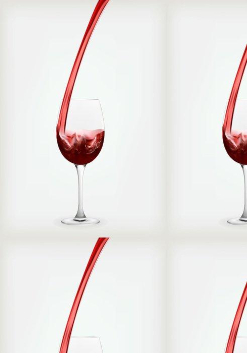 Tapeta Pixerstick Sklenice s červeným vínem - Doplňky