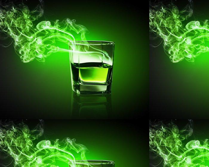 Tapeta Pixerstick Sklo zelené absinthu - Zábava