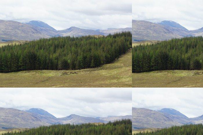 Tapeta Pixerstick Skotská vysočina - Beautiful Scenery - Hory