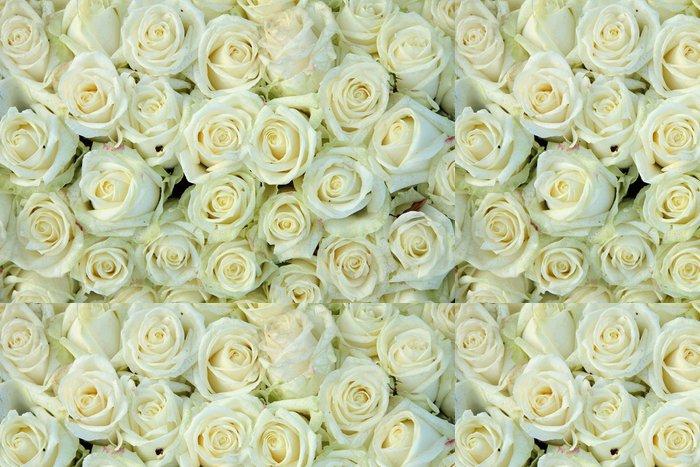 Tapeta Pixerstick Skupina bílých růží, svatební dekorace - Témata