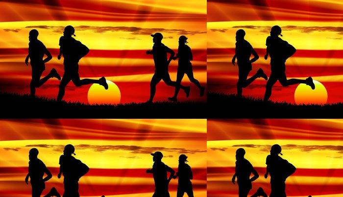 Tapeta Pixerstick Skupina mladých lidí běží - Témata