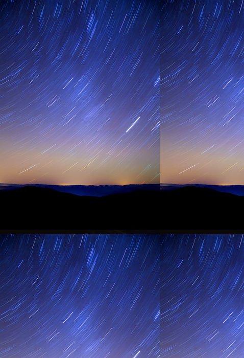 Tapeta Pixerstick Sky hvězd v horách, otáčet, noční - Meziplanetární prostor