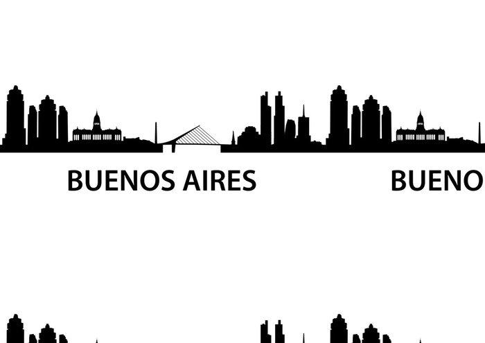 Tapeta Pixerstick Skyline Buenos Aires - Amerika