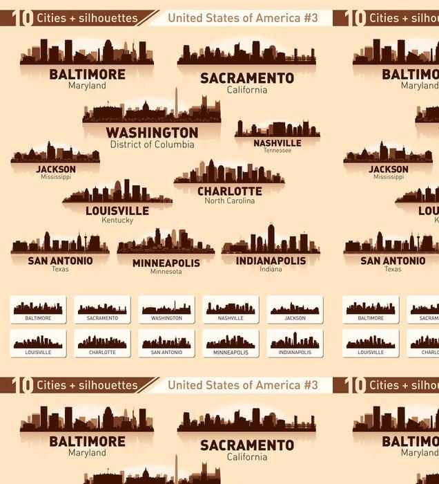 Vinylová Tapeta Skyline město ležící. 10 měst USA # 3 - Americká města