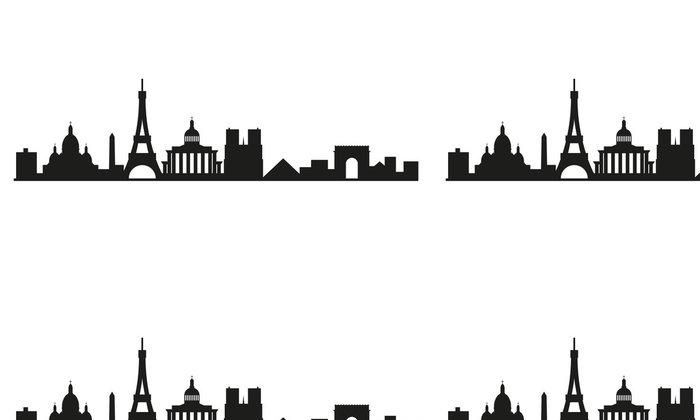 Vinylová Tapeta Skyline Paříž - Evropská města