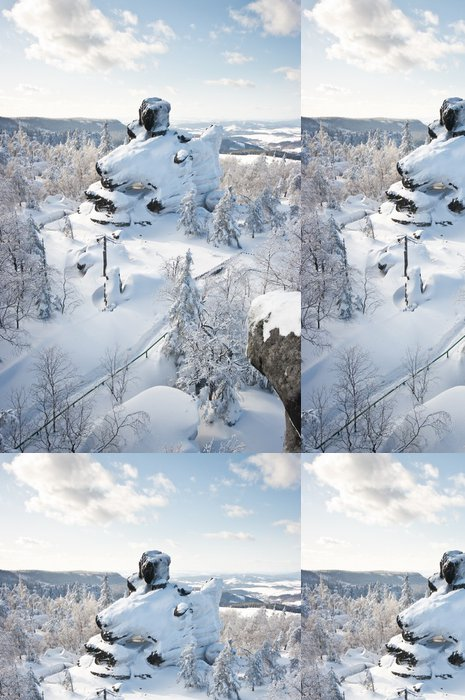 Tapeta Pixerstick Slavné skály na Szczeliniec hoře, Polsko - Evropa