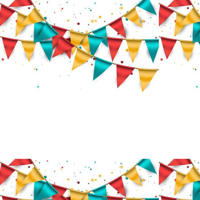Vinylová Tapeta Slavnostní pozadí s buntings a konfety - Slavnosti
